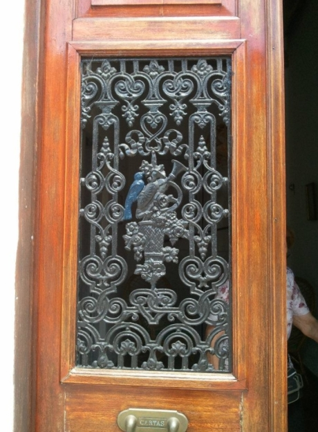 Cast iron door grille