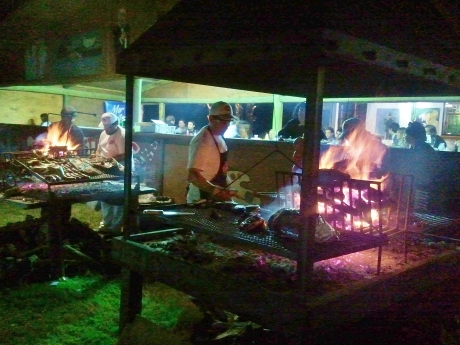 Asado in full swing