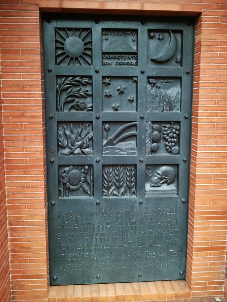 Door to mausoleum shared between three families