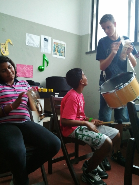 Group learning, percussion section