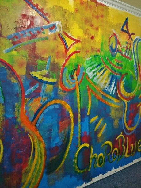 Choro Blue mural, Sumaré, Sao Paulo