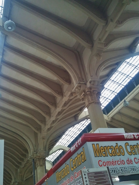Cast iron ribbed roofing with Corinthian capitals