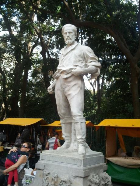 Bandeirante pioneer Bartolomeu Bueno da Silva, Parque Trianon, Sao Paulo