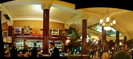 The bar at Cafe Tortoni