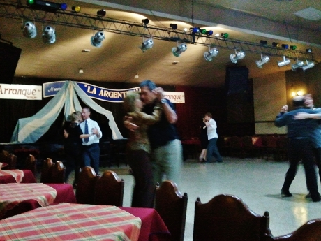 Milonga dancers