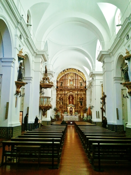 Interior of the church