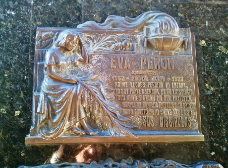 Memorial to little Eva (Evita) Peron, nee Duarte