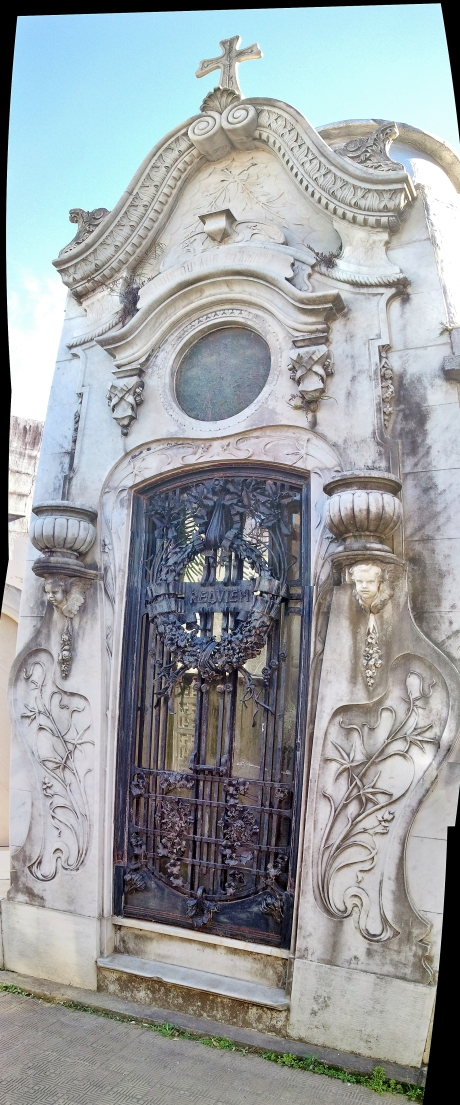 Elaborate Art Nouveau tomb
