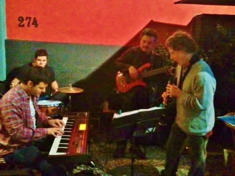 Jazz en plein air and in full flight