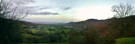 England from the Welsh borders