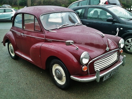 Morris Minor, predecessor of the British Mini