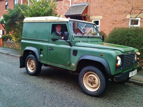 Gentleman farmer in Landrover Tdi 90