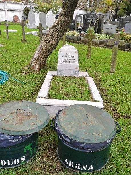 Grave of an Irish woman