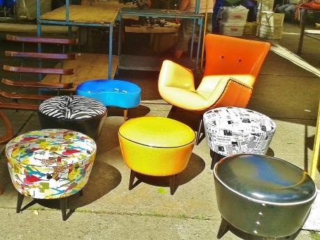 ... stools ...